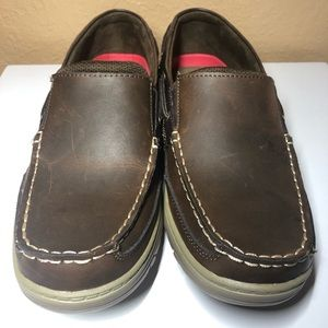 Croft&Barrow Mens Slip On Brown Boat Shoes S-10.5